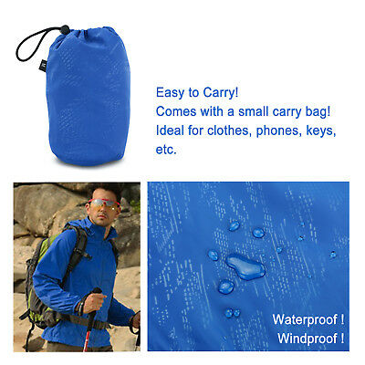 Unisex Cycling Running Hiking Bike Waterproof Windproof Jacket Outdoor Rain Coat 6