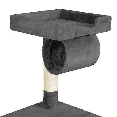 Arbre à chat griffoir grattoir animaux geant avec hamac lit 141 cm hauteur gris 3
