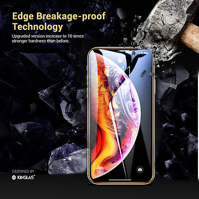 2 X iPhone XS Max XR X Full Coverage Tempered Glass Screen Protector for Apple 7
