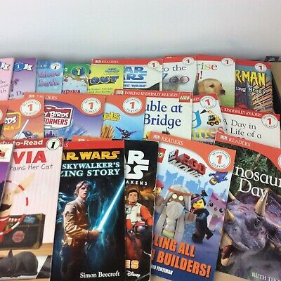 Lot of 10 Level 1~RL~Ready to-I Can Read-Step into Reading-Learn Read Books MIX 4