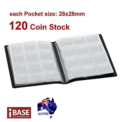 2x Coin Stock Holder Money Storage Pocket Penny Collection Album Book Collecting 5