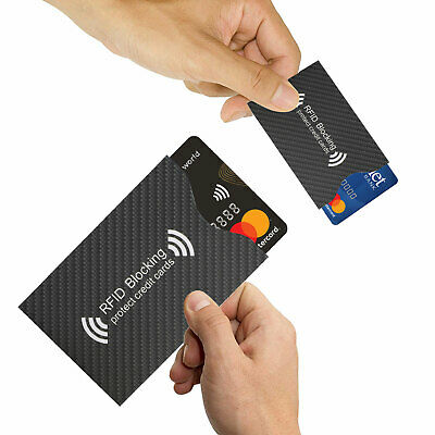 RFID Blocking Sleeve Credit Card Protector Anti Theft Safety Shield Case Cover 6