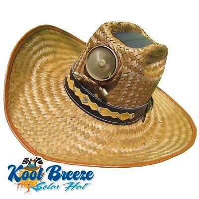 ea303e5d7 MENS KOOL BREEZE Solar Cowboy Hat,Straw hat,Cowboy hat,Solar Cooling Hat,  Solar