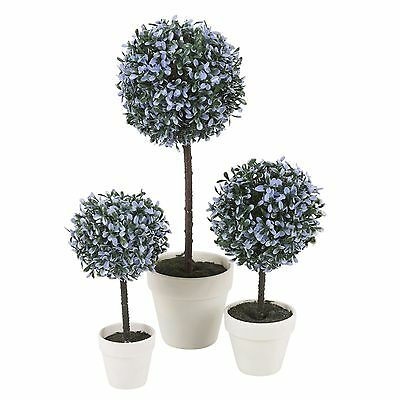 Decorative Artificial Outdoor Ball Plant Tree Pot Colour Small Medium Large 11