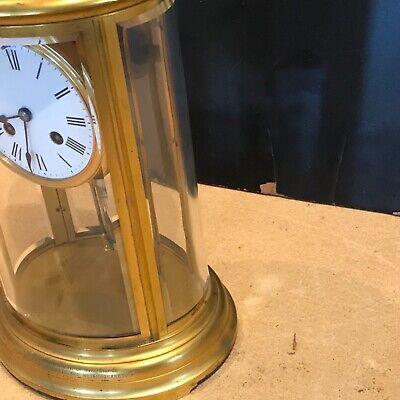 Superb french bevelled glass Japes Frees Victorian gilt framed clock 3