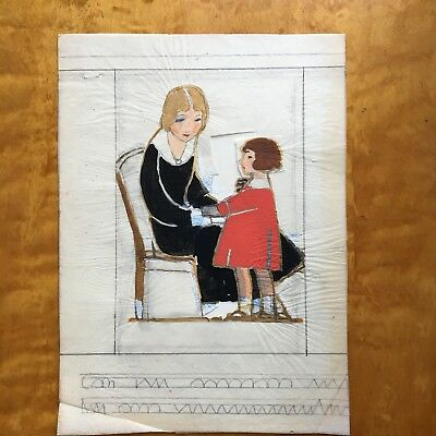 Margaret Iannelli original drawing Prairie School peer of FL Wright c.1925 3
