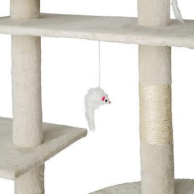 Arbre à chat xxl griffoir grattoir geant avec 2 grottes beige 5
