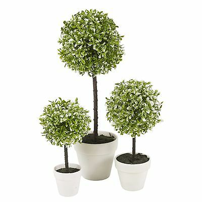 Decorative Artificial Outdoor Ball Plant Tree Pot Colour Small Medium Large 12