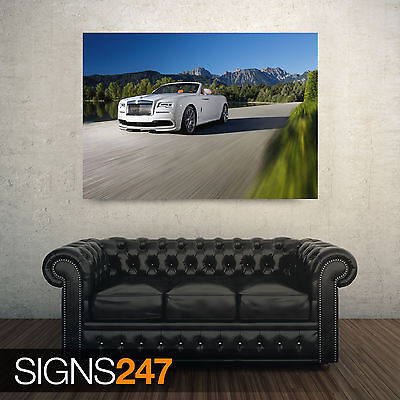 9202 Photo Picture Poster Print Art A0 A1 A2 A3 A4 ROLLS ROYCE WRAITH BLACK