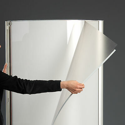 """Free Standing Light Up Stand, Double Sided, Advertising Display, 27X77"""", Silver 3"""