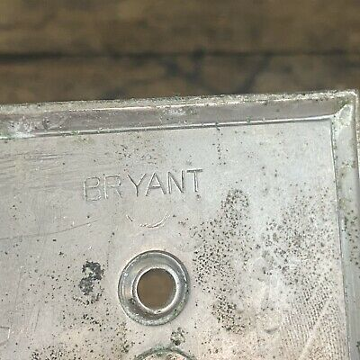 Vintage Bryant Brass Electric Outlet Plate Cover with Hinged Lid B3 5