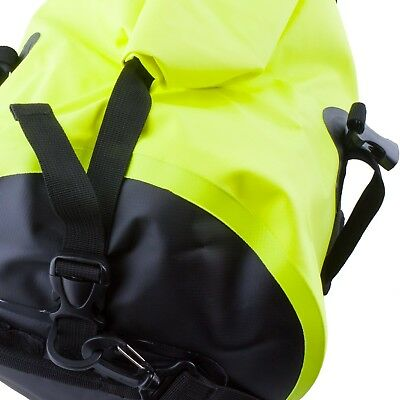 50L Motorcycle Luggage Duffel Holdall Waterproof Roll Shut Bag Flo Yellow 5