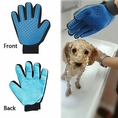 [2-in-1 Pet Glove] Soft Rubber Grooming Brush Tool + Furniture Pet Hair Remover 5