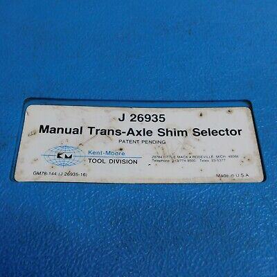 Kent-Moore J26935 Manual Trans-Axle Shim Selector Set 7