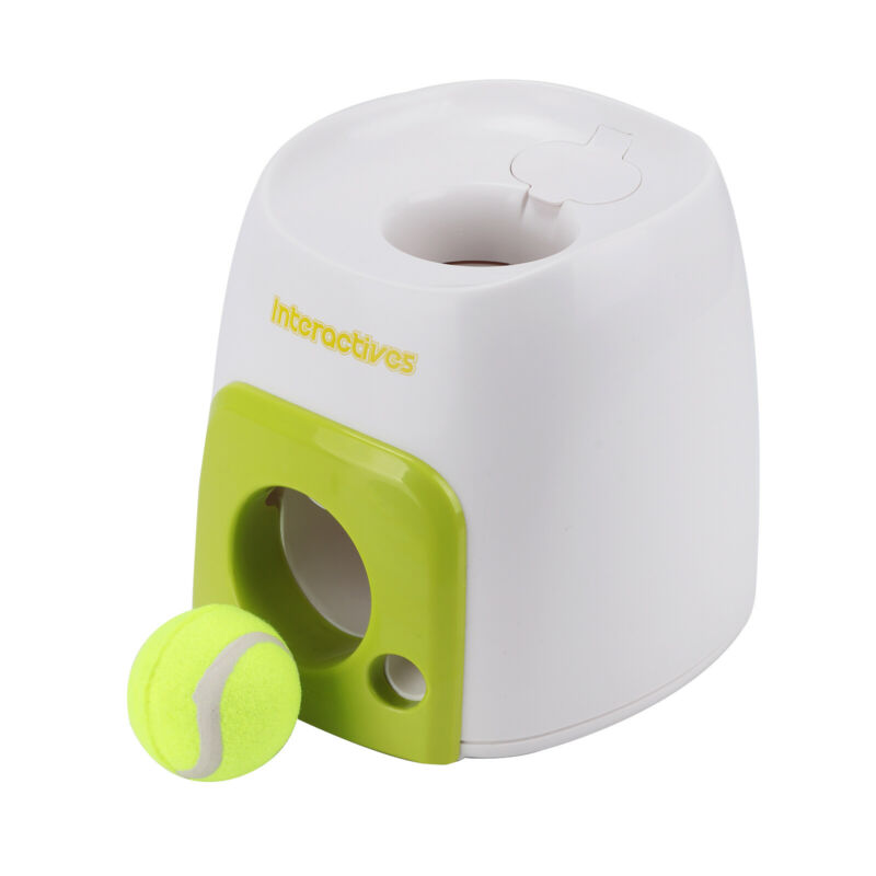 Automatic Interactive Pet Dog Launcher Tennis Ball Toy Fetch Hyper Training Game 2