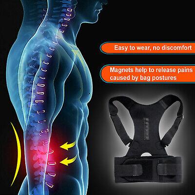 Posture Corrector Support Men Women Magnetic Back Shoulder Brace Belt Adjustable 8