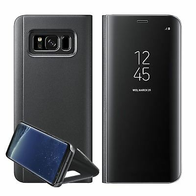 New Samsung Galaxy S8 S9 + S10+  Smart View Mirror Leather Flip Stand Case Cover 2