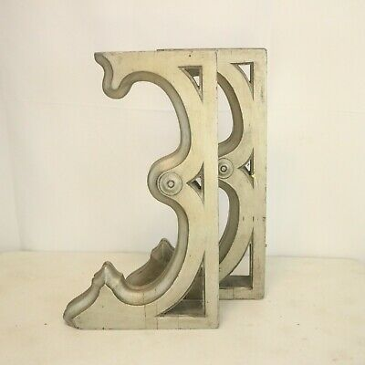 Antique Victorian Architecture Wood Corbels Distressed Farmhouse Brackets 2