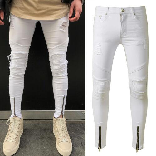 3 von 12 Herren Jeans Zerrissen Destroyed Röhrenjeans Denim Slim Fit Skinny  Lang Jeanhose 0e2e2f24d3