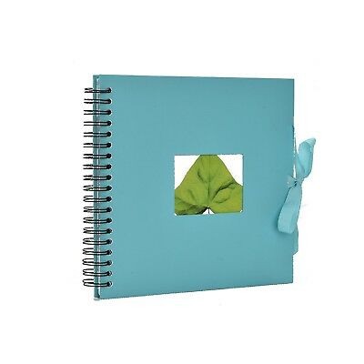 Spiral Scrapbook photo Album 50 Cream Pages With Cut-Out Window 26.5 x 25 cm