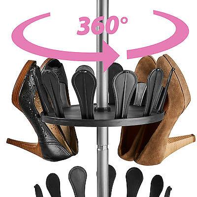XXL Carrousel /à chaussures Meuble chaussures avec tige t/élescopique pour 96 chaussures 48 paires