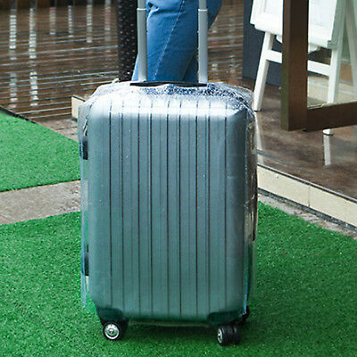 Plastic Travel Luggage Suitcase Cover Protector Scratch Dustproof Bag 20 24 28 4
