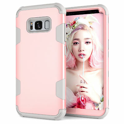 For Samsung Note 9 S8 S9 Plus Rugged Hybrid Full Body Shockproof Hard Case Cover