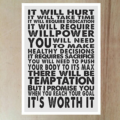 Motivation inspiration quote running fitness outdoor exercise wall art print 3