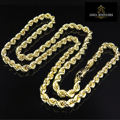 fb6d1b2b24429 MENS WOMENS 14K Yellow Gold Rope Chain Necklace 1.5MM 16