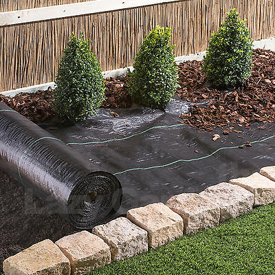 2m wide 100g Weed Control Fabric Garden Landscape Ground Cover Membrane Mulch