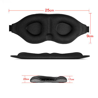 Travel Sleep Eye Mask soft 3D Memory Foam Padded Shade Cover Sleeping Blindfold 8