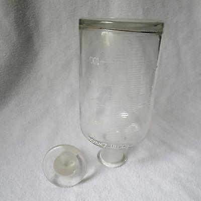 Apothekerflasche Klarglas Schliffstopfen Emaille-Skala Sprit für techn. Zwecke 5