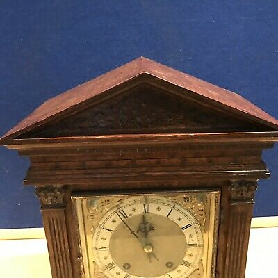 bracket clock Oak Cased W & H Superb 2