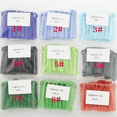1 Pack 1040 Pcs Dental Orthodontic Elastic Braces Rubber Ligature Ties 37 Colors 2