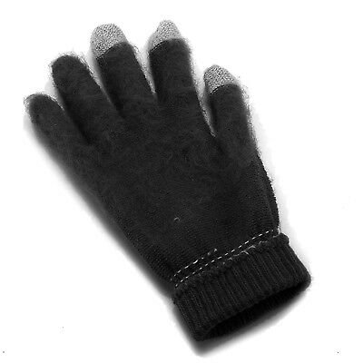 Mens Thermal Thinsulate Knitted Full Finger Gloves Winter Warm Cold Woolly Mitts 5
