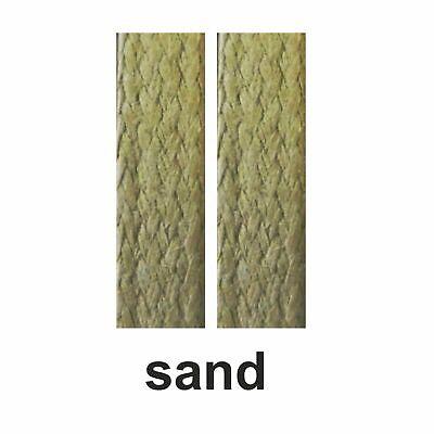 edle flache gewachste Schnürsenkel, waxed laces 75-130 cm lang  ca.5 mm breit 9