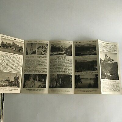 """Vintage 1960's Visitor's Guide Czechoslovakia Tourism 31.5"""" X 8"""" 7"""