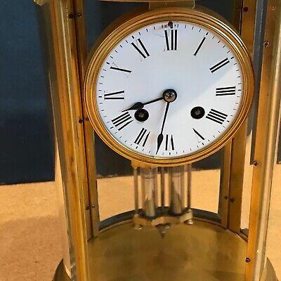 Superb french bevelled glass Japes Frees Victorian gilt framed clock 5