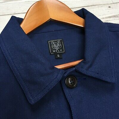 60s Style French Navy Blue Cotton Twill Canvas Chore Worker Jacket - All Sizes 3