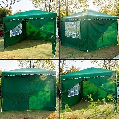 Klapp Falt Pavillon 3x3m WASSERDICHT Gartenzelt Partyzelt Pavillion Seitenteile 9
