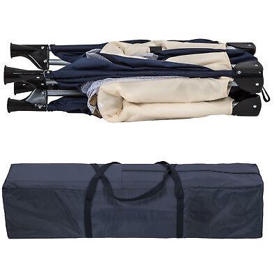 Box per gioco e nanna lettino da viaggio reticolato campeggio bambini bebé blu 6