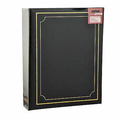 "6.99Traditional 6"" X 4""  Photo Album with 200 Pockets Black, Blue or Burgundy 3"