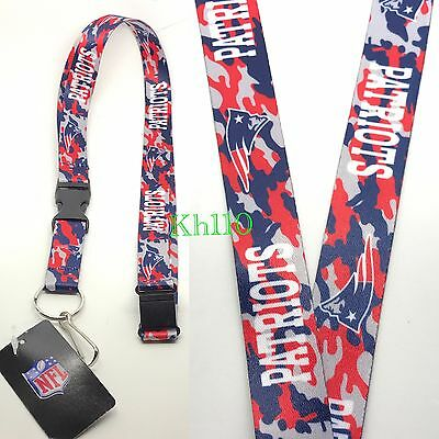 4e96ecf5a3e NFL NEW ENGLAND Patriots keychain Lanyard - Pick Your Color! -  7.98 ...