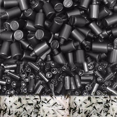100 Stück 15 ml x Kunststoff Flaschen leer ✔HDPE, schwarz, Flasche-Deckel-Pinsel