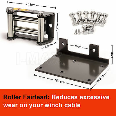 Wireless 3000LBS / 1360KG 12V Electric Steel Cable Winch Boat ATV 4WD Trailer 6