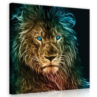LEINWAND BILDER Löwe Afrika Tiere WANDBILDER XXL Wohnzimmer Kunstdruck