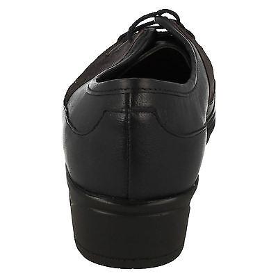 F8R0416 Femmes en daim noir ou en cuir à lacets Eaze Chaussures