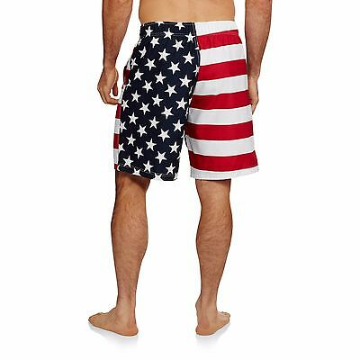 b8af8f9fb4 ... Men's USA American Flag Stars Stripes Red White Blue Swim Trunk Board  Shorts 3