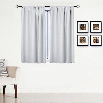 Gardinen Vorhang blickdicht mit Kräuselband Thermo Verdunkelung 250g/m2 #330-a 7