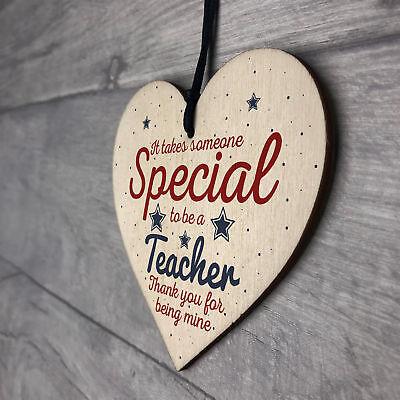 Handmade Hanging Heart Gift For Teacher Leaving Present Thank You Gifts Keepsake 7
